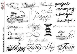 temporary omg inspirational words 1 omg temporary tattoos