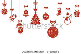 ornaments hanging merry stock vector