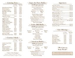 catering menu professional event wedding venue catering