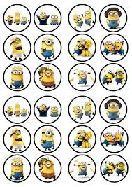 Where To Print Edible Images Minions Movie Edible Premium Sweetened Wafer Paper Cupcake Toppers