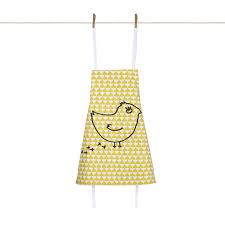 tablier cuisine enfants tablier enfant chic ocre coquito objets design la cocotte