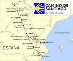 Camino De Santiago Map File Ruta Del Camino De Santiago De La Lana Svg Wikimedia Commons