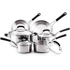 farberware black friday farberware 10 piece professional stainless steel cookware set