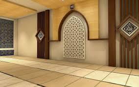 kreasi desain mushola di dalam rumah minimalis unik txt mosque