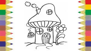 trolls and elf forest house coloring pages u2013 kids fun art