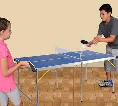 portable ping pong table amazon com lion sports folding portable table tennis ping pong