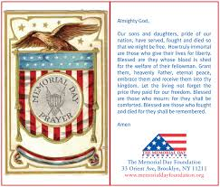the memorial day prayer card faqs the memorial day foundation