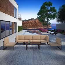 Patio Sectional Sofa Modway Fortuna 8 Piece Aluminum Patio Sectional Sofa Set Hayneedle