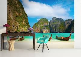 maya bay thailand wallpaper murals by homewallmurals
