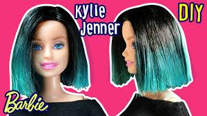 kylie jenner hair for barbie doll barbie haircut tutorial diy