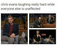 Laughing Hard Meme - chris evans laughing really hard while everyone else is unaffected