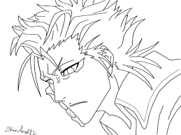 bleach coloring pages free template manga coloring sheets