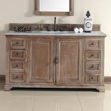 Rustic Bath Vanities Providence 60 Inch Cottage Bathroom Vanity Distressed Finish