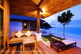 beach front bungalow bundhaya villas koh lipe satun thailand