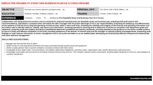 pre feasibility study and business plan as a consu cover letter