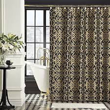 Brown And Gold Shower Curtains Appealing Brown And Gold Shower Curtains And Black And Gold Shower