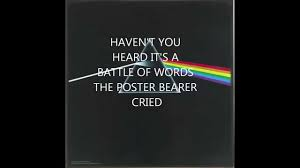 Pink Floyd Lyrics Comfortably Numb Us And Them By Pink Floyd Lyrics Youtube