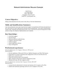 Skills For Resume Examples For Customer Service by Network Administrator Skills Resume Resume For Your Job Application