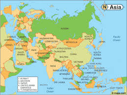 map of countries of asia map of countries in asia major tourist attractions maps
