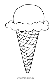 0to5 com au ice cream cone template suitable for young children