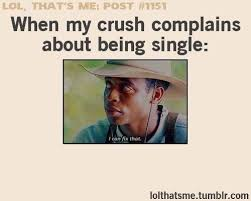 Cute Memes For Your Crush - when my crush complains about being single i m like makes me
