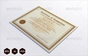completion certificate templates u2013 36 free word pdf psd eps