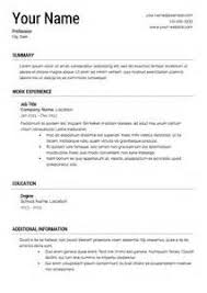 My First Job Cv  resume format write resume volumetrics co write a     JFC CZ as