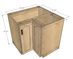 build your own kitchen cabinets free plans ana white build a 36 corner base easy reach kitchen cabinet