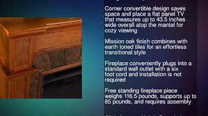 cartwright convertible electric fireplace mission oak youtube