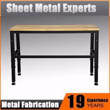 wood top work table 52 inch heavy duty rubber wood top work table garage workbench buy