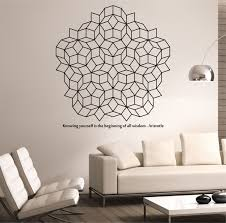 penrose tiling wall decal with quote vinyl sticker art decor