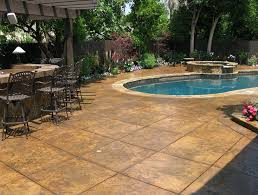 Stamped Concrete Backyard Ideas Stamped Concrete Patio Designs Ideas Home Design Ideas
