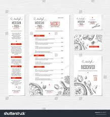 restaurant menu template cafe identity vector stock vector