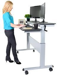 office furniture standing desk adjustable desk chair leaning chair standing desk crank adjustable sit to