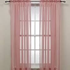 light pink sheer curtains amazon com rose pink sheer window panel curtain 2 by editex home