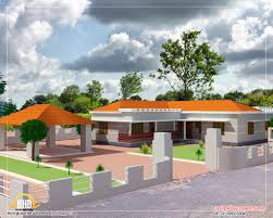 home elevation designs for single floor house concept by edu n1
