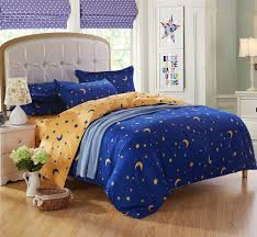 Yellow Duvet Cover King Queen King Twin Bedding Bed Sets For Kids 4 5 Pcs Star Moon Bright