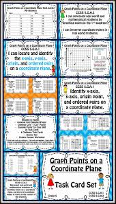 Common Core Math Worksheets Coordinate Points On A Graph Task Cards And Posters Set Common