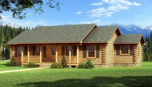 one story log cabin floor plans