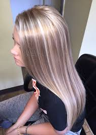 ash brown hair with pale blonde highlights platinum highlights chagne lowlights instagram beauty bungalow