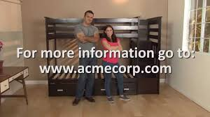 allentown twin twin bunkbed and trundle assembly video youtube