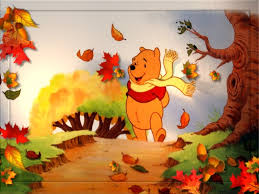 cartoon thanksgiving wallpaper herfst pooh pinterest
