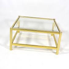 Table Verre Design Italien by Table Basse Vintage Italienne En Laiton Et Verre 1970 Design
