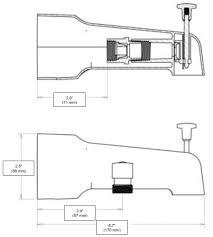 parts of a bathtub faucet bathtub spout diverter home victory