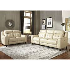Leather Power Reclining Sofa Leather Sofas U0026 Sectionals Costco