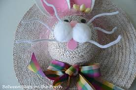 easter bunny hat decorate your door for easter