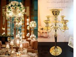 gold centerpieces aliexpress buy h75cm w48cm 5 arms gold metall candelabra