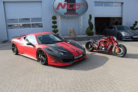 ferrari custom dmc 458 estremo receives nonidentical twin bike from no limit