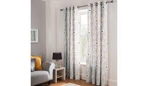 Asda Nursery Curtains Grey Daisy Leaf Geo Curtains Home U0026 Garden George
