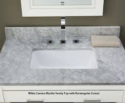 Xylem VKENTWT Bathroom Vanity  Bathroom Vanities  Bath - Carrera marble bathroom vanity